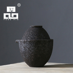 TANGPIN rust-glazed ceramic teapot kettle teacup japanese tea set drinkware