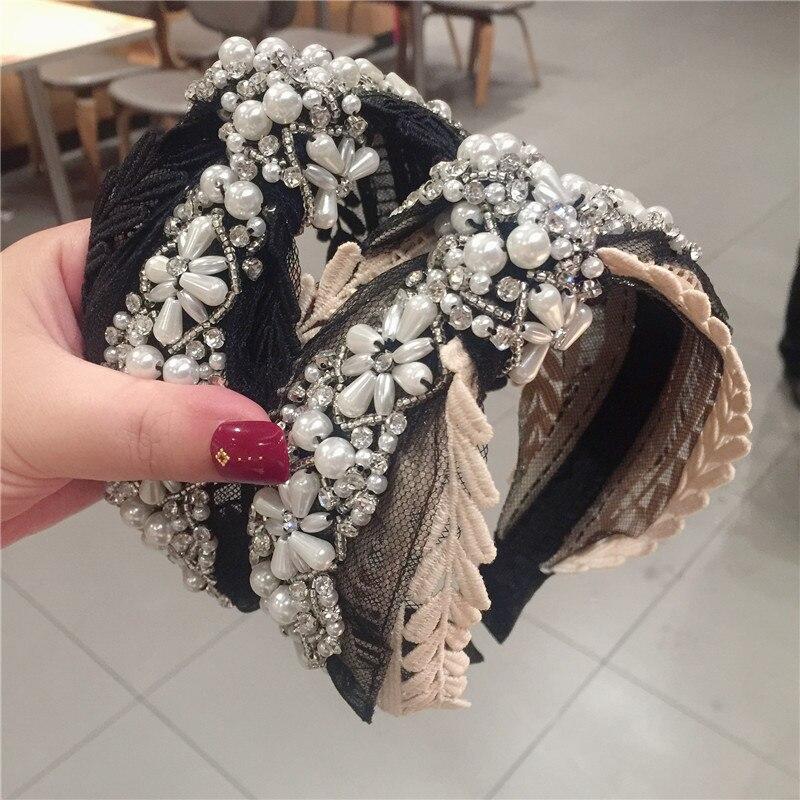 Acessórios para o cabelo do laço da coroa do nó da faixa de cabelo para meninas
