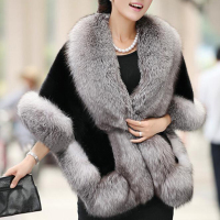 Brieuc New Bridal Jacket Coat Faux Fur Women Wedding Shawl Evening Party Dress Wraps Fur Shoulder Capes Slim Lady Fake Fur Cloak