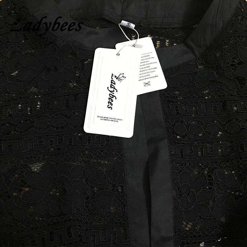 Willstage Frauen-Spitze-Strickjacken L - 5XL plus Größen-Jacke 2018 - Damenbekleidung - Foto 5