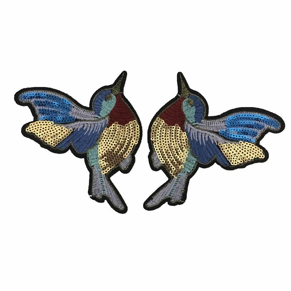 1 Paar Vogels Patches Voor Kleding Ijzer Op Lovertjes Borduurwerk Patch 3d Parches Termoadhesivos Para Ropa Hot Koop Voldoende Aanbod
