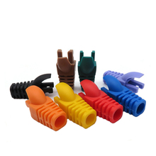 100pcs Waterproof RJ45 Plug Cap Network Cat5e Cat6 Ethernet Cable Protective Cover Color Networking Strain Relief Boot