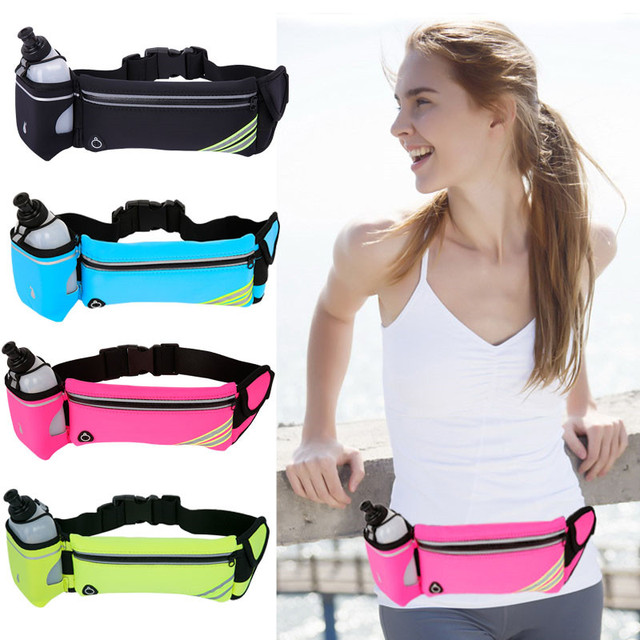 73cfb5845c96 US $7.82 56% OFF|Waterproof Hydration Belt Pouch Bag Reflective Sports  Running Waist Bag Phone Holder Belt Fanny Packs-in Running Bags from Sports  & ...