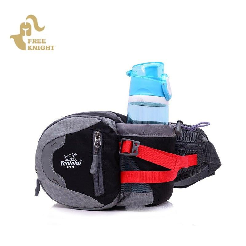 Prix pour Free knight étanche nylon multifuntictional sport en plein air sac de course à vélo escalade sport taille sac bouteille d'eau ceinture sac