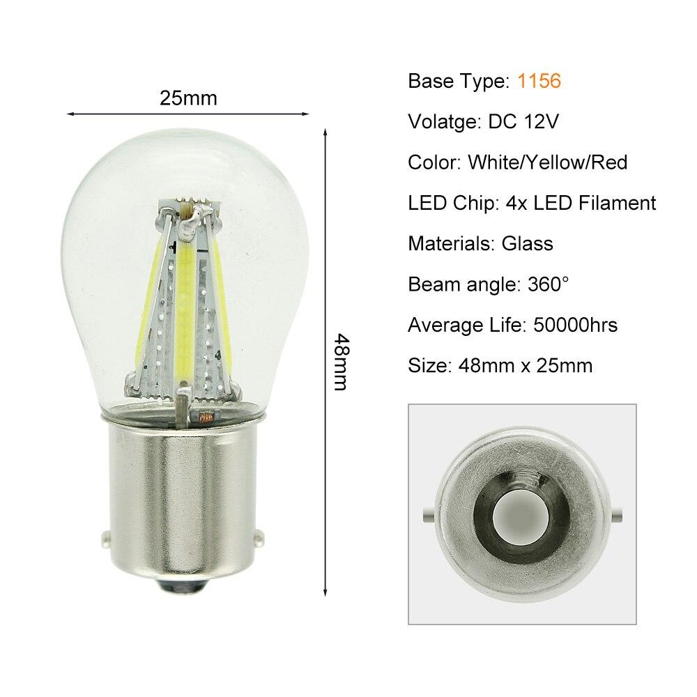 1156 4 COB LEDs