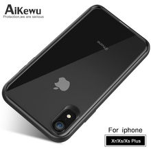 AiKewu for iPhone X XR XS Max case Ultra thin high transparent PC+ soft Silicone shockproof case for iPhone XS XS Max back cover w 1 0 3mm ultra thin protective pc back case cover for iphone 6 transparent grey