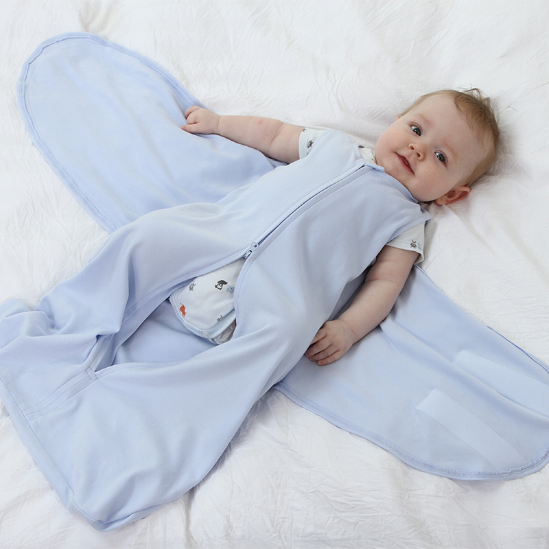 100% Cotton Newborn Swaddle Wrap For Newborns Envelope Sleeping Bag Baby Zipper Sleepsacks Breathable Infant Wrap For 0-6 Months
