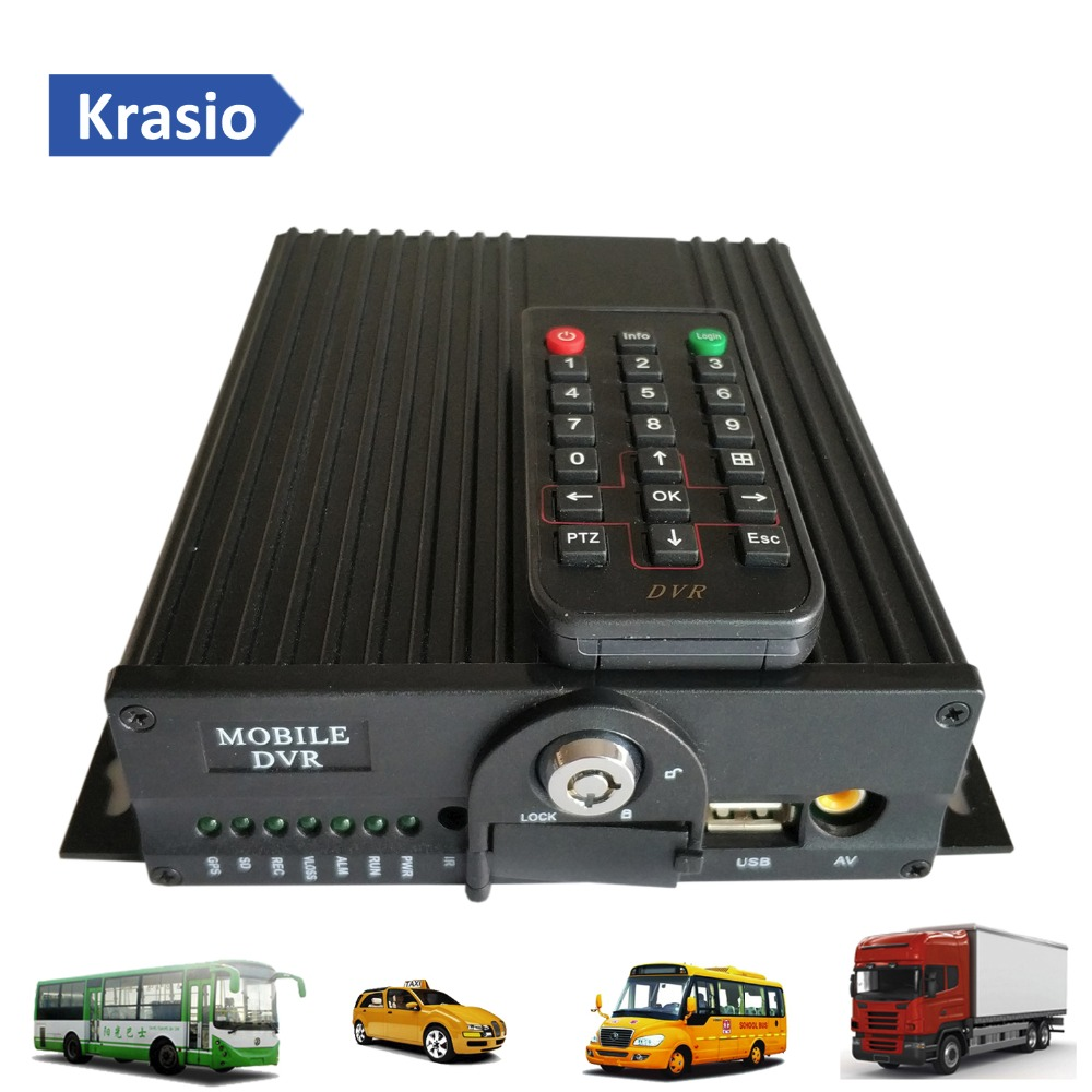 4 Channel 4g 3g Sim Card Mobile Dvr With Gps Tracking Wifi
