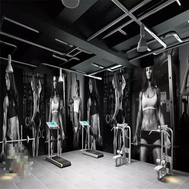 Gym sexy beauty wall background wall professional making murals wholesale wallpaper custom poster photo wall in Fabric Textile Wallcoverings from Home Improvement