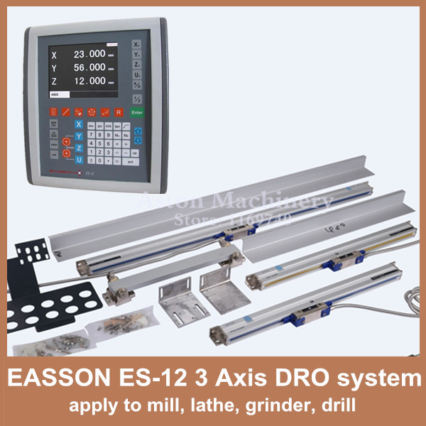High Quality EASSON ES 12 Graphic 3 axis LCD digital readout DRO kit and digital linear
