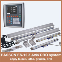 High Quality EASSON ES 12 Graphic 3 axis LCD digital readout DRO kit and digital linear scale for mill, lathe , grinder, EDM