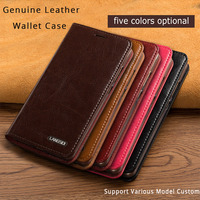 LANGSIDI Flip Genuine Leather Case For Xiaomi mi 5s plus 5.7Inch Cover Stand Wallet Card Holder Magnetic Business Bag