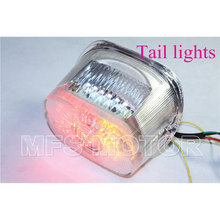 motorcycle parts Tail Light For Harley Davidson Dynas Electra FLST FXST Road Kings Tour Glides Clear