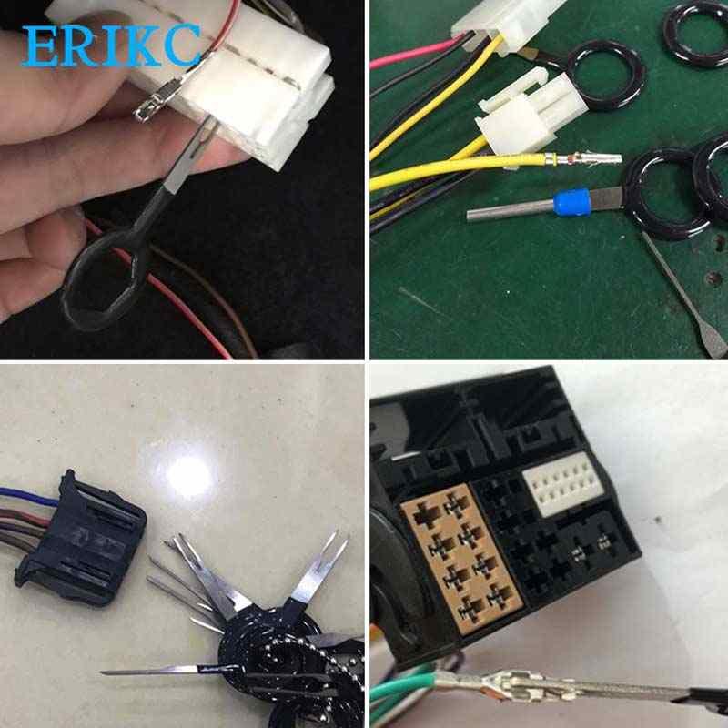 11 pièces Auto voiture prise Circuit imprimé fil harnais Terminal Extraction Pick connecteur sertissage broche arrière aiguille enlever outil