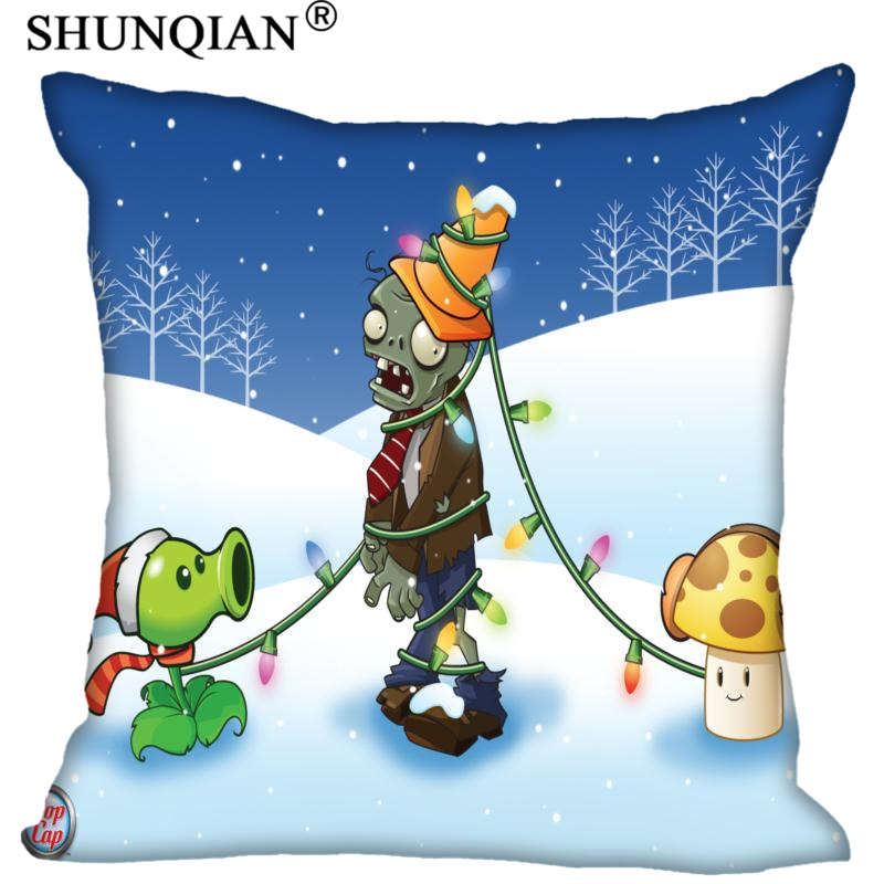 Hot Sale New Custom Plants vs. Zombies Square Pillowcases zipper Fashion Custom Pillow C ...