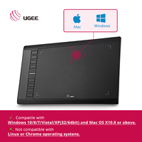 Ugee M708 10x6 Inch Painting Digital Tablet Graphics Drawing Tablet Pad 2048 Level Graphic Tablet Usb
