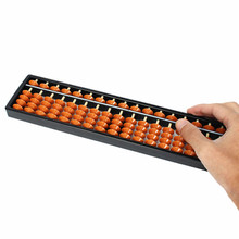 ABS Non-toxic Materials Plastic Abacus Arithmetic Soroban 17 Digits Kids Maths Calculating Tool Educational Toys 26.8cm x 1.5cm