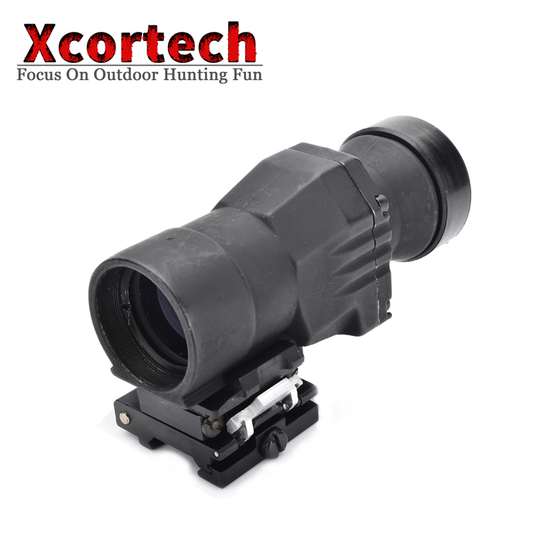 AR-15 Airsoft Tactical QD 3x Magnifier Riflescope 3X30mm 303 Magnifying Scope Focus Adjusted With Flip Up Mount For Hunting image