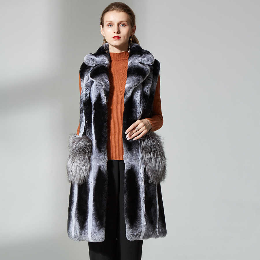 62628b9d2 Detail Feedback Questions about chinchilla vest sliver fox fur ...