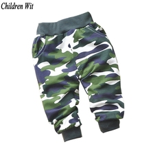 Spring Autumn Lovely Cotton Children Camouflage Pants Newborn Baby Boy Pants Baby Girls Pants Baby Clothing