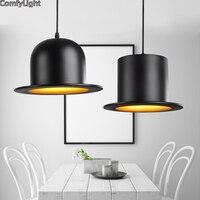 Creative ceiling lamp metal dome shade black led E27 pendant lighting bar club fashion decoration hanging saloon livingroom