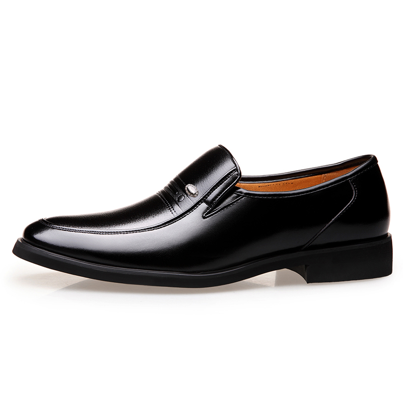 MUHUISEN Men Loafers Fashion Soft Leather Business Dress Shoes Male - Men's Shoes - Photo 3
