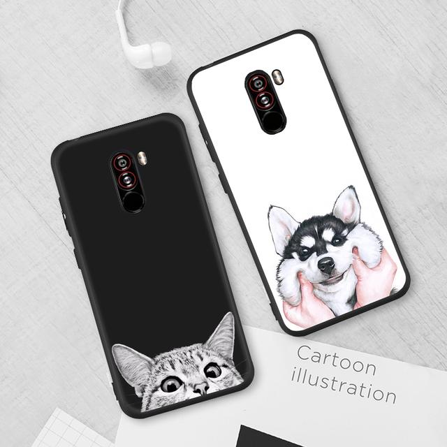 Luxury Fashion Pattern TPU Case For Xiaomi Pocophone F1 Mi8 SE 5X 6X A1 A2 Soft Silicone Back Cover Cute Animals Flowers Coque