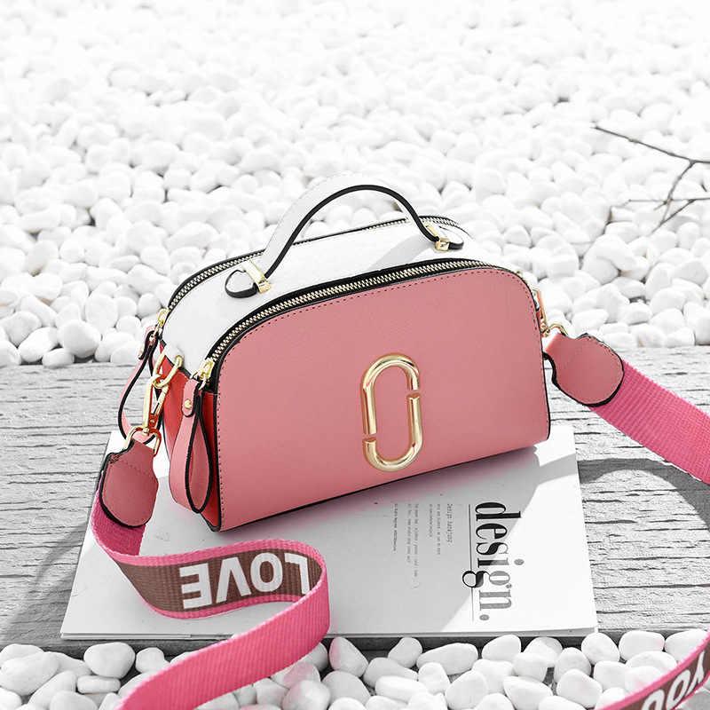 חדש 2019 אלגנטי כתף תיק נשים מעצב יוקרה תיקי נשים שקיות תפרים צבע שליח Crossbody תיק לנשים