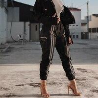 Tactical Cargo Pants Vintage Jogger Two Stripes Trousers Military Satin Minimalist Pants Multi Pockets Loose Safari Sweatpants
