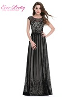 Long Formal Evening Dress Ever Pretty HE08828 Plus Size Evening Dress Black Sexy Evening Dresses Ladies
