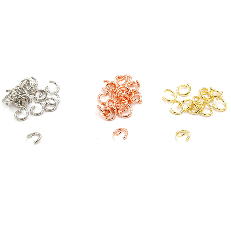 Semitree 100pcs/lot 3mm 5mm Stainless Steel Rose Gold Jump Rings Split Rings for Jewelry Making DIY Necklace Crafts AccessoriesSemitree 100pcs/lot 3mm 5mm Stainless Steel Rose Gold Jump Rings Split Rings for Jewelry Making DIY Necklace Crafts Accessories