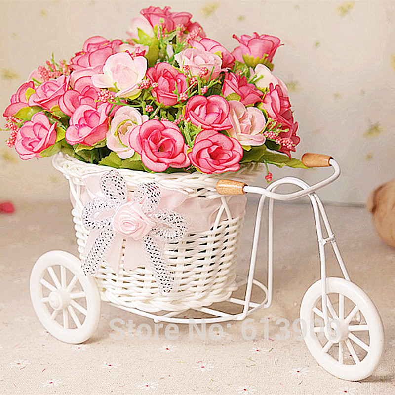Flowers Vase Small Floats Rose Artificial Flowers Decoration Flower Home Furnishings In