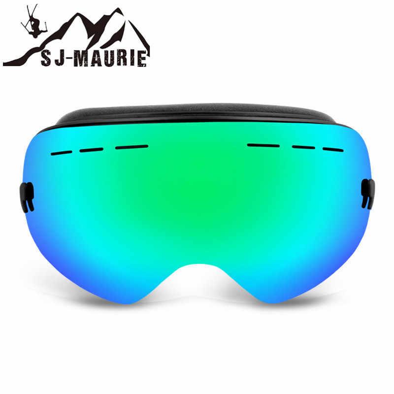SJ-Maurie كامل الوجه الثلوج قناع على الجليد نظارات مكافحة الضباب نظارات تزلج تسلق الجبال الثلوج نظارات Photochrome نظارات الادسنس