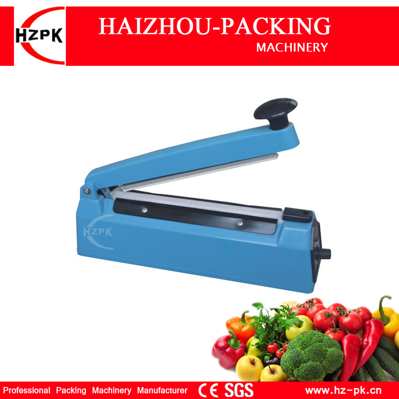 все цены на HZPK Hot Selling Simple Hand Pressure Heat Impulse Sealer Plastic Body Manual Sealing Machine For Fruit Saver 200mm PFS-200 онлайн