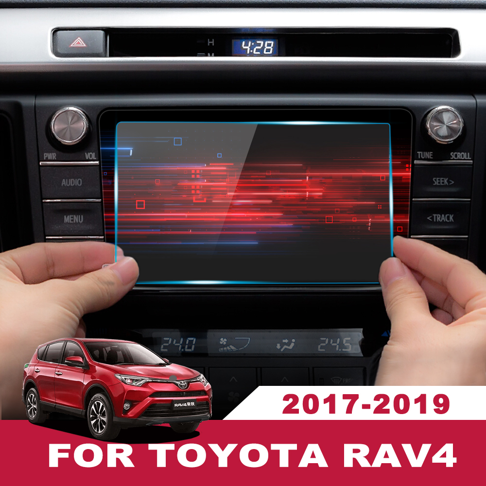 7/8 Inch For <font><b>Toyota</b></font> <font><b>RAV4</b></font> RAV 4 2017 <font><b>2018</b></font> 2019 Car <font><b>Accessories</b></font> Interior GPS Navigation Screen Steel material Protective Film LCD image