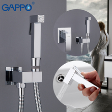 GAPPO Bidet Faucets brass toilet spray white and chrome muslim shower bidet faucet bathroom bidet mixer water bath showers