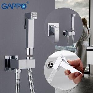 Image 1 - GAPPO ก๊อกน้ำ Bidet ทองเหลืองสเปรย์ห้องน้ำสีขาวและโครเมี่ยมมุสลิมฝักบัว bidet ก๊อกน้ำห้องน้ำ bidet ผสมน้ำฝักบัว