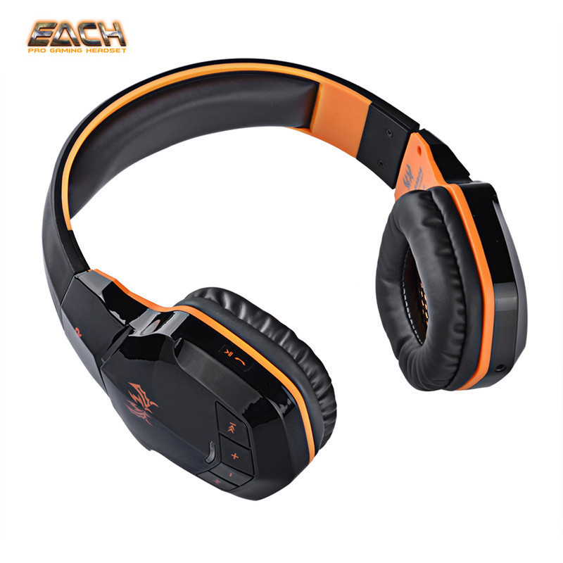 EACH B3505 Wireless Bluetooth Stereo Gaming Headphones Game Headset PC Gamer With Volume Control Microphone HiFi Build-in NFC