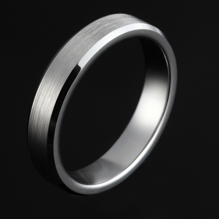 4mm High Polished Jewelry Silver Brushed Tungsten Carbide Rings For Women Couple Wedding Band Men Anels Dropshipping men wedding band cz rings jewelry silver color anillos bague aneis ringen promise couple engagement rings for women