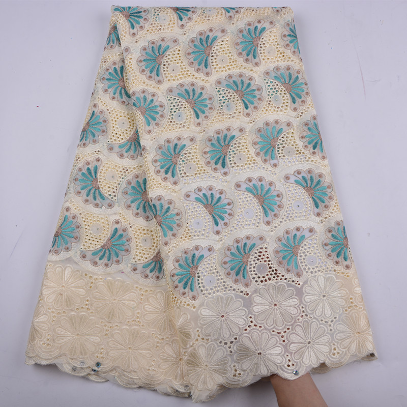 African Voile Lace Fabric 2018 High Quality Lace Swiss Voile lace In Switzerland Cotton Lace Fabric