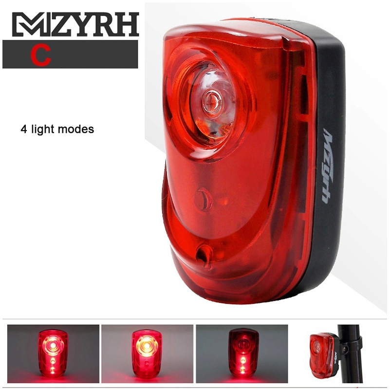 mzyrh bicycle rear tail light red led flash lights cycling night safety warning lamp bike. Black Bedroom Furniture Sets. Home Design Ideas