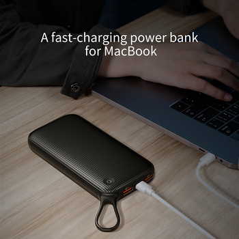 Baseus 20000mAh Quick Charge 3.0 Power Bank For Xiaomi Mi 20000 mAh USB C PD Fast Portable External Battery Charger Powerbank 1