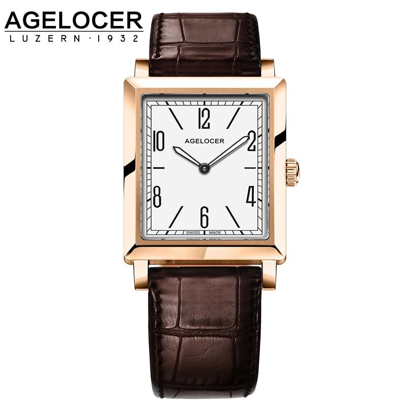 AGELOCER Luxury Brand Ladies font b Watch b font Fashion Leather Wrist Quartz Girl font b