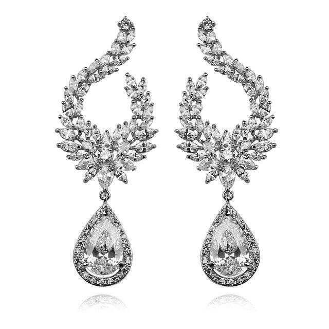 New Design Luxury Excellent  Vintage Chandelier Earrings, Bridesmaid Earrings, Wedding Earrings for Women