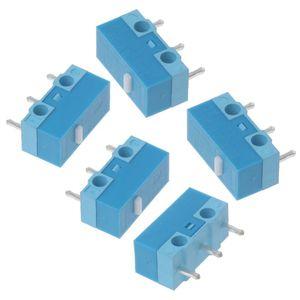 Image 3 - HUANO Micro interrupteur de souris, 5 pièces, coque blanche et bleue, 0,74n, Contacts en alliage dargent, 20 Millions de vie