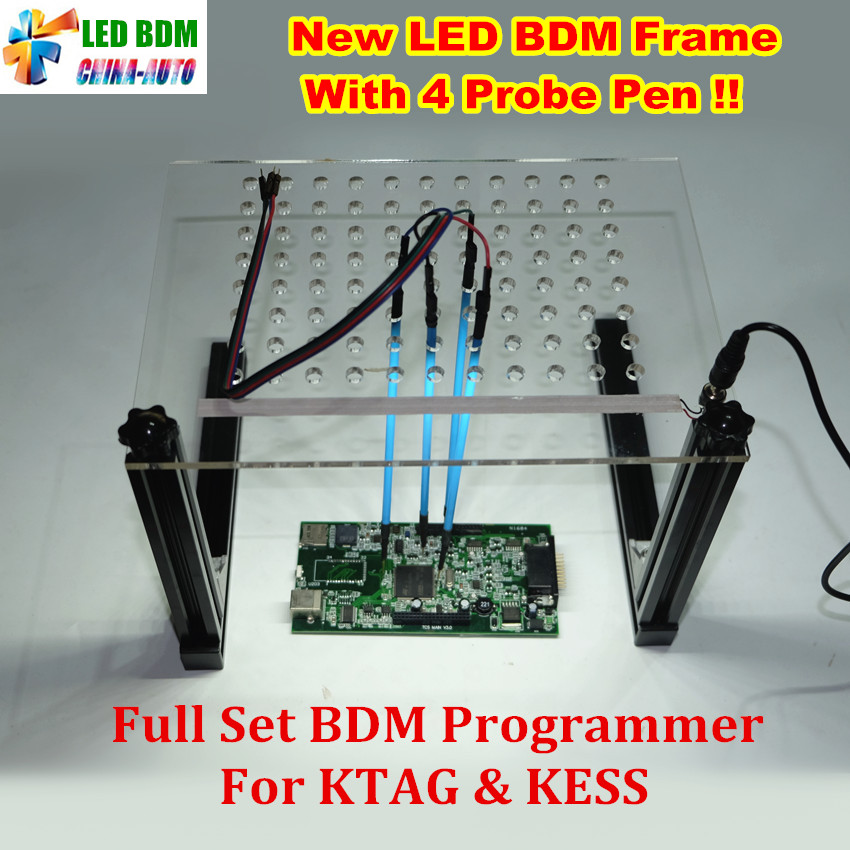 2018 New LED BDM Frame With 4 Probe Pens Full Set BDM Programmer For KTAG K-TAG KESS V2 Fgtech BDM100 Auto ECU Chip Tuning Tool цены онлайн