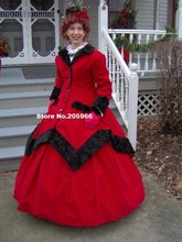 Custom Made-1800s Victorian Dress 1860s Civil War Winter Traveling Gown with Over / Dickens Caroling Suit/Party Costume