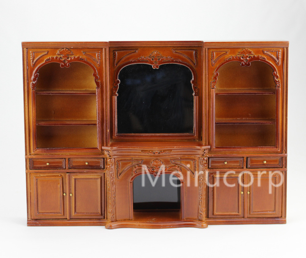 Dolls house 1/12 scale miniature furniture  Well Hand Carved Fireplace and wall for honey well 5180 5180sr decoded miniature image scan engines