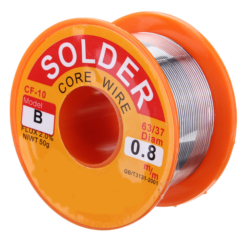 Welding Promotion 8mm 50g Rosin Core Solder 63/37 Tin Lead Flux Soldering for Welder Iron Wire Reel Soldering Iron Wires  цены