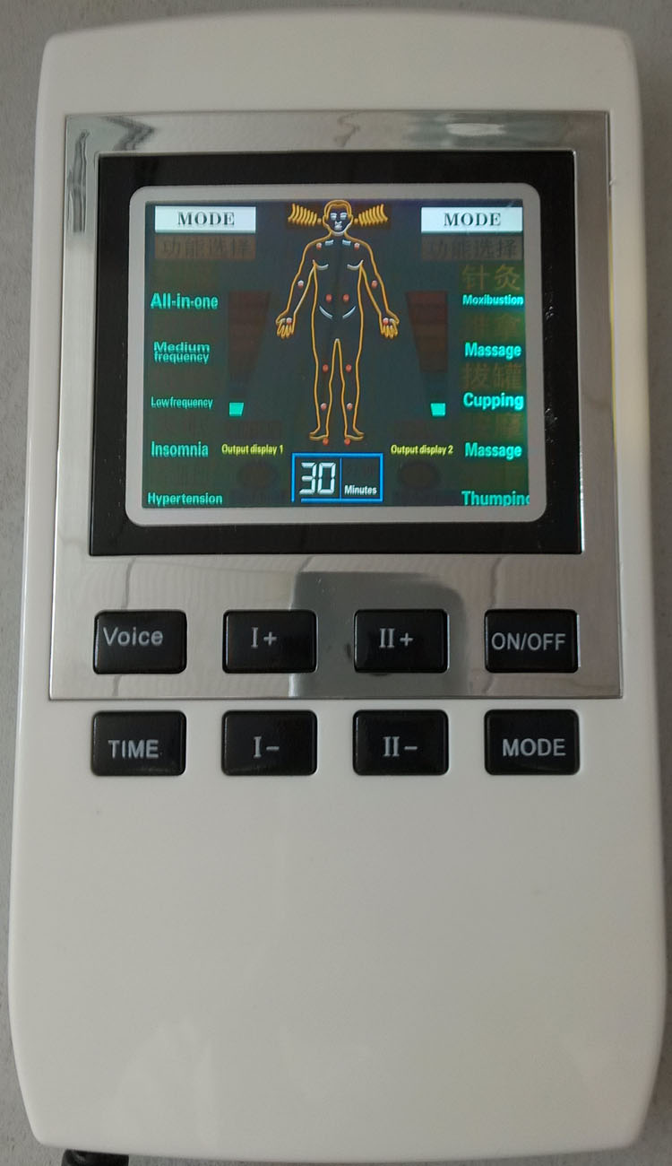 2017 New Biofeedback Pain Relief TENS Unit With Low And Medium Frequency With Colorful Screen, Voice, Multifunction, 10 Modes
